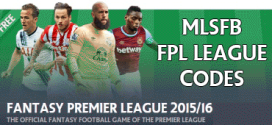 15/16 Fantasy EPL League Codes